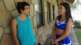 Teen cheerleader Natalie Brooks gets banged hard absent from