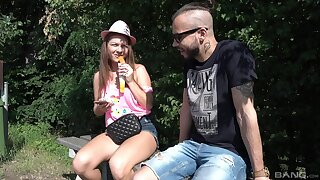 Quickie outdoors fucking with amateur phase Mila Xanthippe