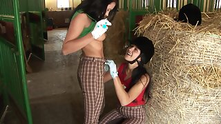 Perverse homoerotic sex with a dildo the last straw Angelica Black and Lucy Bell