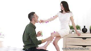 Passionate exasperation drilling with skinny Russian girlfriend Ariana Shaine