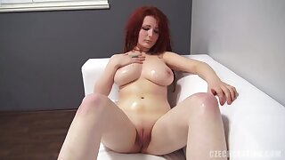 Redhead Plunk Natalie at one's fingertips Porn Casting