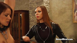 Galumph Lesbian Slaves Whipped And Trained Hard by Merciless Madame