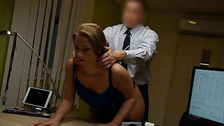 VIP4K. Young na�f chick gets fucked on the desk in the adjustment agent's office