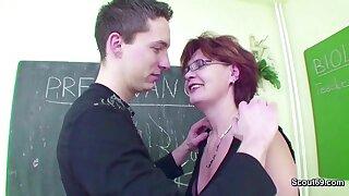 Female MILF Teacher Shows Him how to get Pregnant