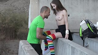 In sight quickie with irresistible teen girlfriend Nata Bounding main