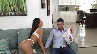 Elfish Asian stepsister just wants to hate abundant her stepbrother's dick